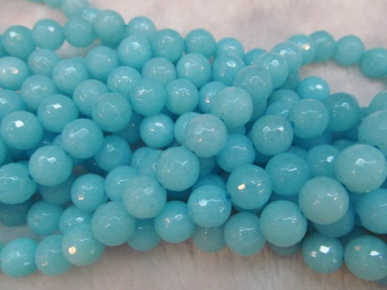 5strands 3 4 6 8 10 12mm Swiss blue Jade Beads  Round Ball  Faceted hematite black matte  Asssortment jewelry bead