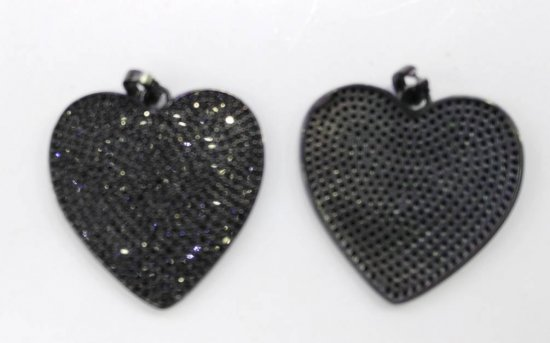 12pcs 28mm CZ Micro Pave Diamond Cubic Zirconia round heart black jet  Healing Hand sharp spikes triangle coin  Charms Pendants