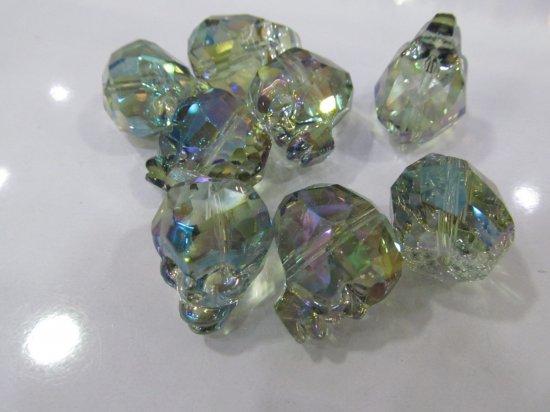 Handmade 50pcs 25mm  Crystal bead Crystal like Swarovski  skull skeleton carved black jet mixed charm jewelry Beads