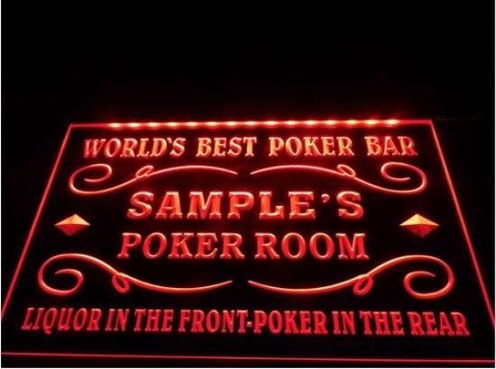 tm-38- Name Personalized Custom World™s Best Poker Room Liquor Bar Beer Neon Sign hang sign home decor crafts