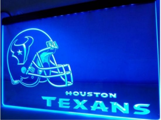 b-143 Houston Texans Helmet beer bar pub club 3d signs LED Neon Light Sign