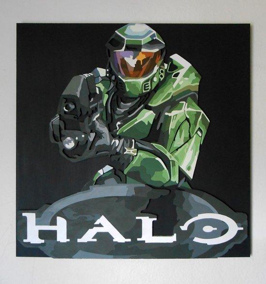 Handmade Halo: Combat Evolved wall hanging