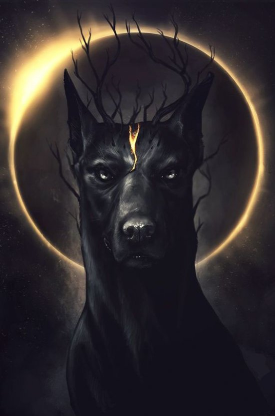 Demon dog, Art, Digital, plunge into art, dogs are our friends
