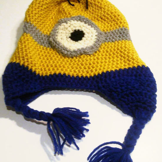 "Adult size Minion ""Despicable Me"" Stuart Winter Beanie Hat"