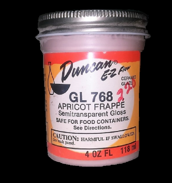 Duncan EZ Flow Ceramic Glaze Apricot Frappe GL 768