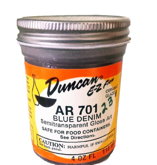 Duncan EZ Flow Ceramic Glaze        Blue Denim AR 701