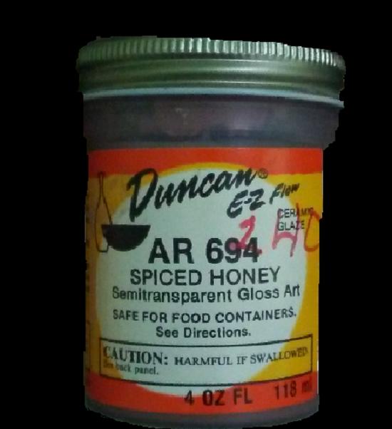 Duncan EZ Flow Ceramic Glaze     Spiced Honey  AR694