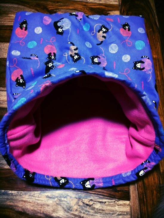 Purple and Pink Kitty Snuggle Envelope