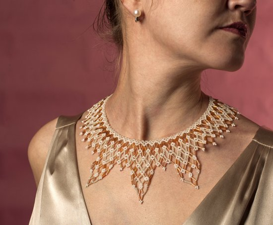 "beaded necklace ""Sun Splinter"""