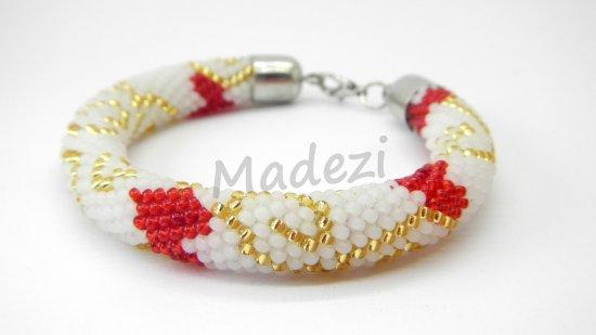Seed bead bracelet, colored bracelet, crochet bracelet, handmade bracelet. Beaded gift for women