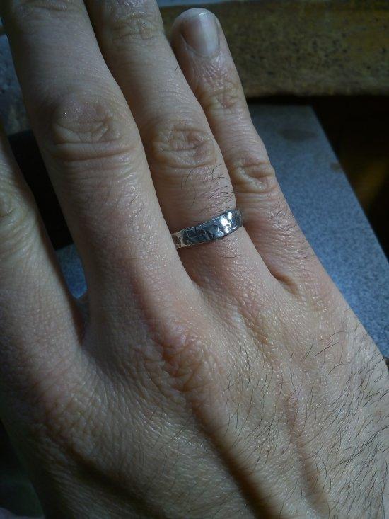 Handmade Special Design Wedding Unisex Ring-925 Silver material.