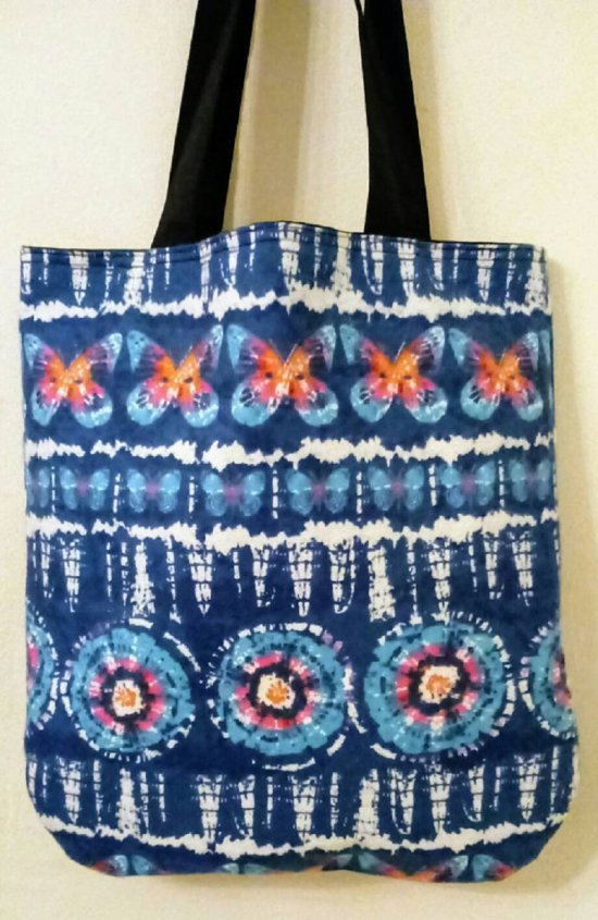 Navy Butterfly Tie Tote