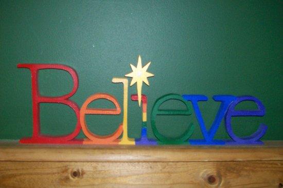 """Believe"" Shelf Sitter Home Decor"