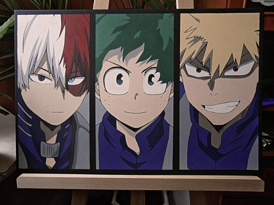 My Hero Academia Todoroki, Deku and Bakugou