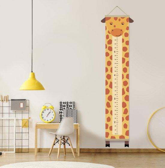 Growth chart giraffe, giraffe decor child, Height chart canvas, Custom height meter, Nursery print