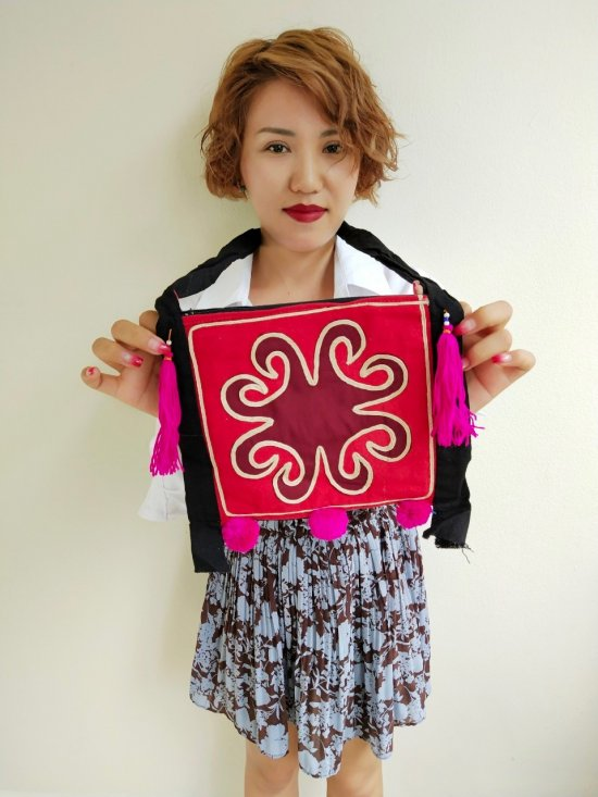 Cute small red crimson bag