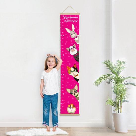 Growth chart pets, Growth ruler, animal wall decor, nursery decor, pets print, height chart