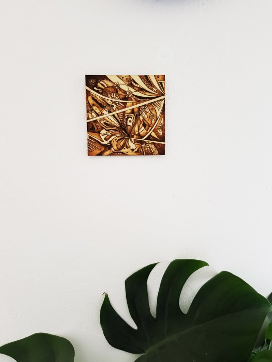 Wooden picture,Abstraction,Butterfly,nature,hand burning,wood burning,decor,home decora,interior decor,modern art,gift
