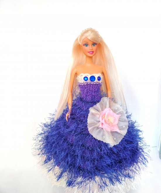 Handmade clothes for fashion dolls Knitted dresses for Barbie New collection 12