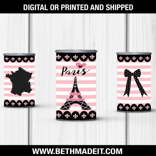 Paris Birthday Party, Paris Pringles Label, Paris Baby Shower, Paris Sweet 16, Paris Party Favors, Paris Party Decor, Digital Download Only