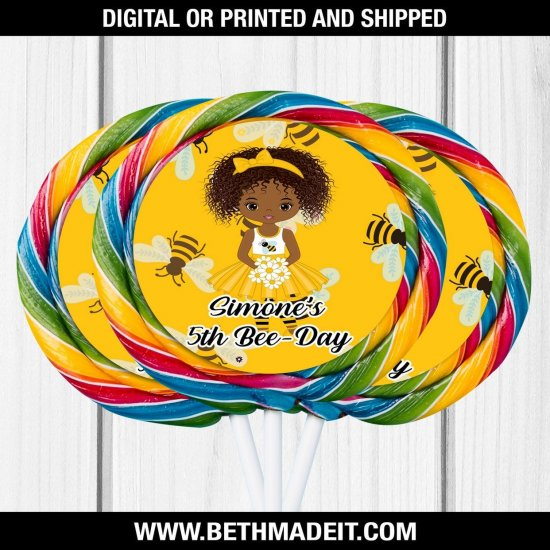 Bee Birthday Party, BumbleBee Treat, Bee Party Favors, Lollipop Labels, Bee Favors, Bee Party Ideas, Candy Labels, Digital