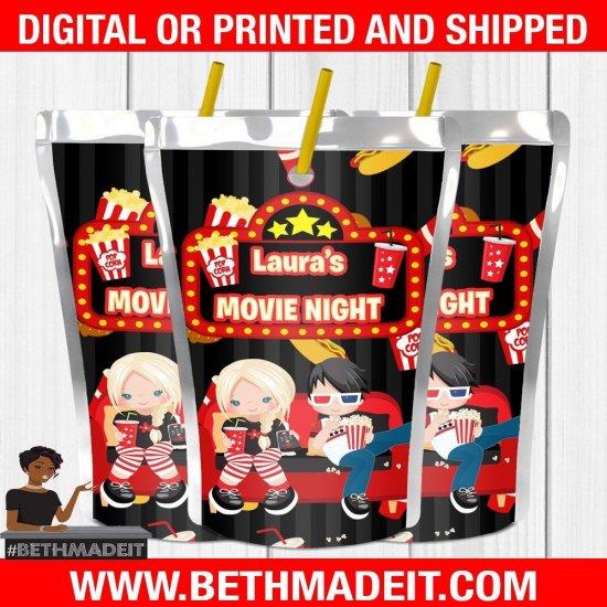 Party at the Movies, Movie Night Party, Movie Night, Movie Party, Movie Party Favors, Movie Party Decor, Digital, Printable