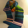 Extra long, multi-color, temperature scarf, adult size