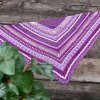 Kerchief  crocheted purple glitter shawl