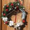 """Christmas Wreaths, Door Wreath, Wall Decor, Handmade Wreath, Eco, """"Apples on snow"""""""