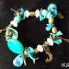 shell bracelet with natural stone, Women bracelet, Beaded bracelet, Womens gift, Gift for her, gift for girlfriend, yoga