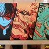 My Hero Academia. Todoroki, Bakugou and Deku 100% Handmade Acrylic On Canvas