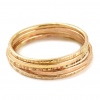 Stacker Ring SET   Gold fill  SIZE 4   Mix Textures   Fine Jewellery   Handmade   NEW