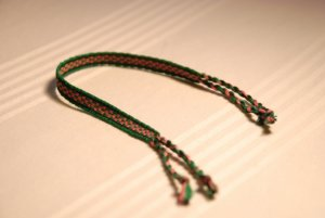 Pink and Green Friendship Bracelet