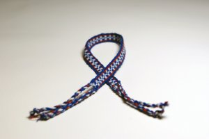 White and Blue Friendship Bracelet