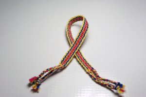 Yellow, Red and Blue Friendship Bracelet
