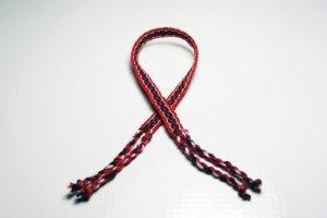 Red and Black Friendship Bracelet