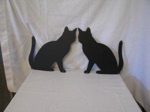 Cat  003 Metal Wall Art Silhouette Set of (2)