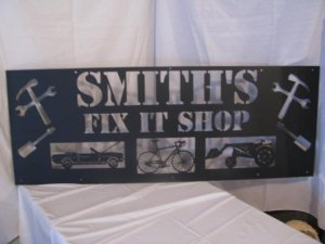 18 in. by 48 in. Metal Sign Wall Art Silhouette