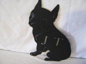 Boston Terrier 005 Dog Metal Wall Art Silhouette