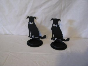 Dog Candle Holder Set of 2 for 2 inch candles