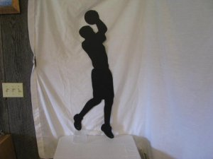 Basket Ball Player 007 Metal Wall Art Sport Silhouette