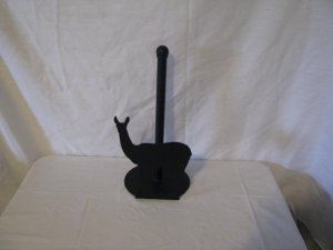 Llama Paper Towel Holder Metal Wall Art Farm Silhouette