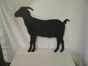 Goat 001 Metal Farm Wall Art Silhouette Large