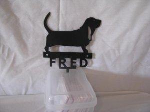 Key Ring/Leash Holder Dog Metal Wall Yard Art Silhouette Set of 2