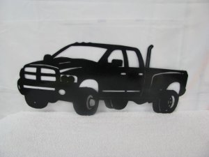 Ram Truck Silhouette Metal Wall Art