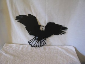 Eagle 018 Metal Wildlife Bird Wall Yard Art Silhouette