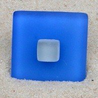 Sea Glass Drawer Pull Square Beach Cabinet Knob Stainless Hardware