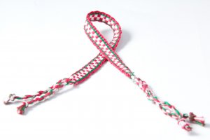 Red and White Friendship Bracelet