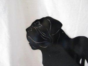 Dogue De Bordeaux M Metal Wall Yard Art Dog Silhouette
