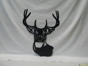 Deer Head 004 Metal Wildlife Wall Yard Gate Art Silhouette